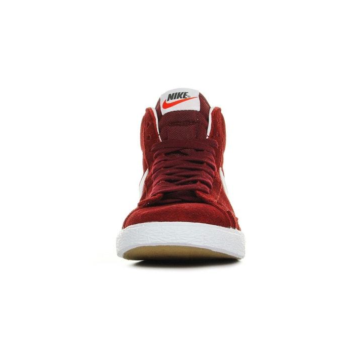 Baskets wmns blazer mid suede rouge/blanc Nike
