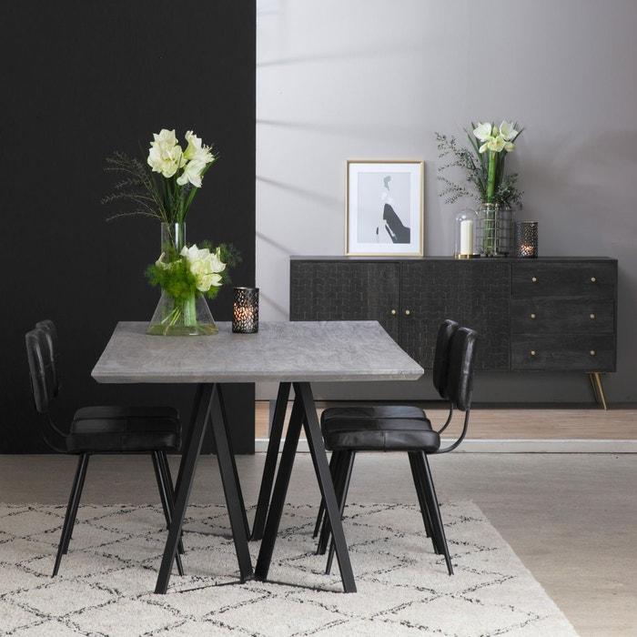 Table A Manger Industrielle Bois Gris Pieds Design Pointe Am80