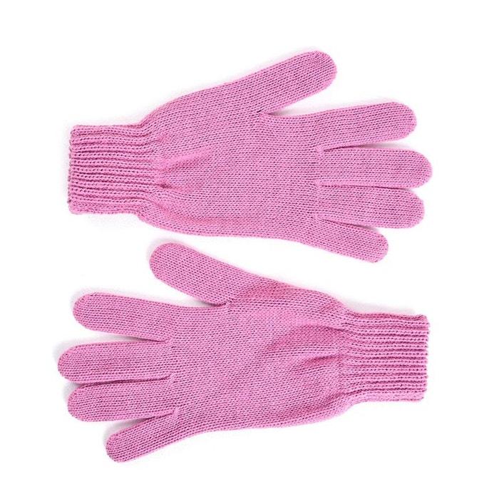 Gants femme rose - fabriqué en france rose Qualicoq   La Redoute 228c3381bd3