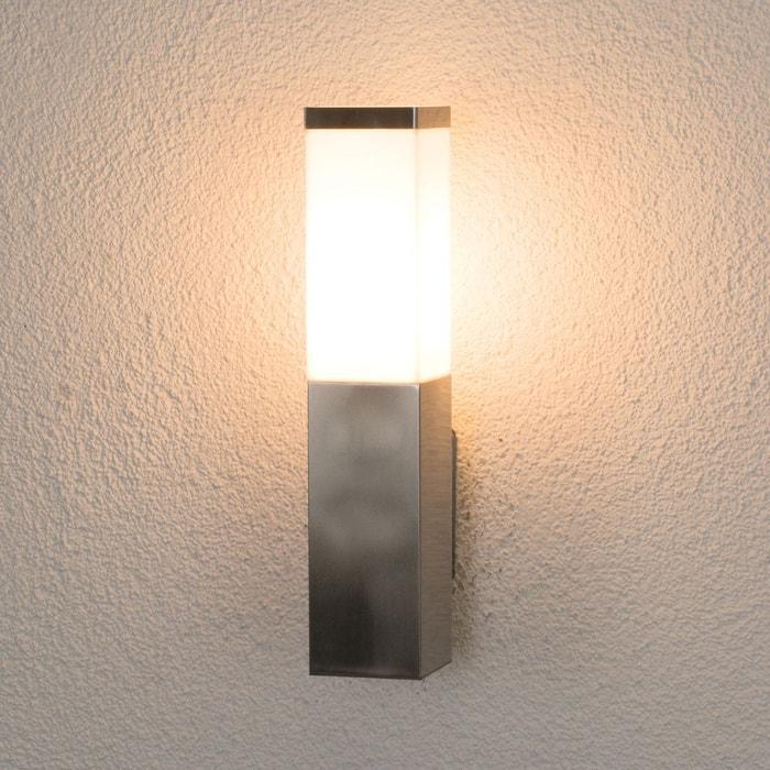 applique ext rieure rectangulaire lorian inox inox blanc. Black Bedroom Furniture Sets. Home Design Ideas