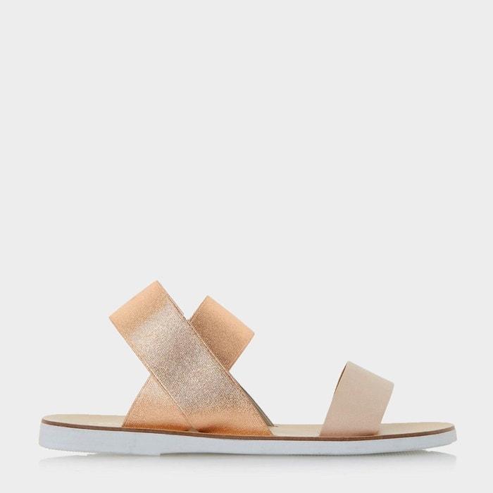 Sandales plates à bride élastique - lacer  noir synthétique Dune London  La Redoute
