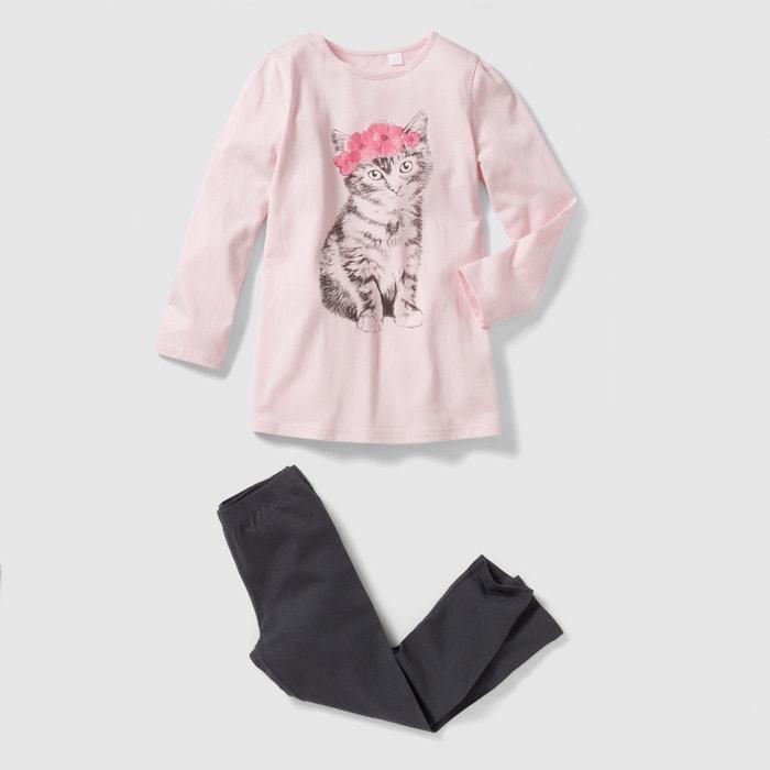 Image Pyjama jersey imprimé chat 2-12 ans abcd'R
