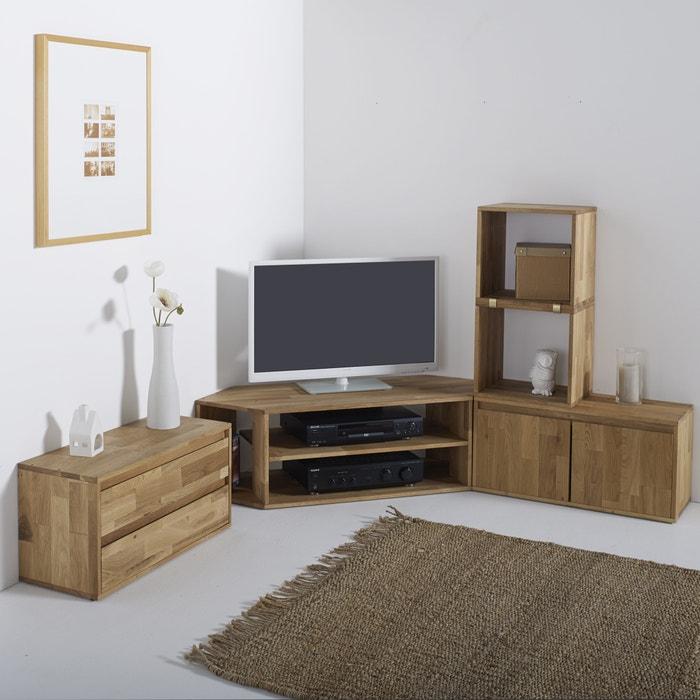 Image EDGAR Solid Oak Corner TV Unit La Redoute Interieurs