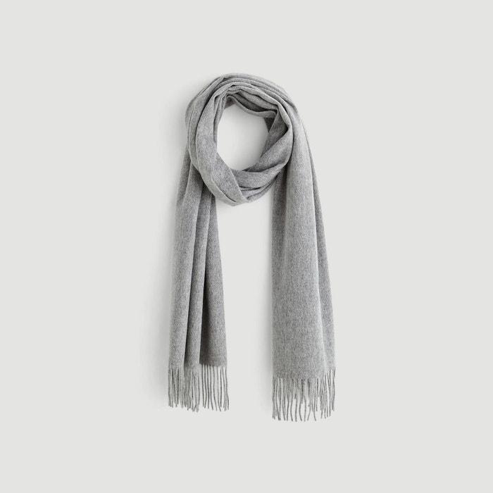 aae750be25c Echarpe en laine et cachemire gris Monoprix