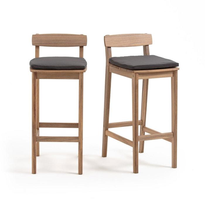 chaise haute de jardin gaytara lot de 2 acacia la redoute interieurs la redoute. Black Bedroom Furniture Sets. Home Design Ideas
