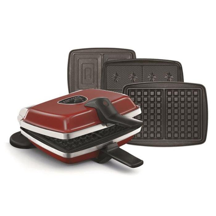 gaufrier super 2 3 jeux de plaques 039 653 rouge lagrange la redoute. Black Bedroom Furniture Sets. Home Design Ideas