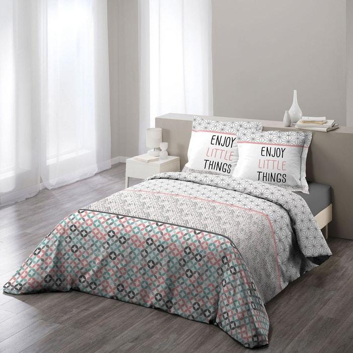 parure housse de couette imprime collection remix douceur d 39 int rieur la redoute. Black Bedroom Furniture Sets. Home Design Ideas