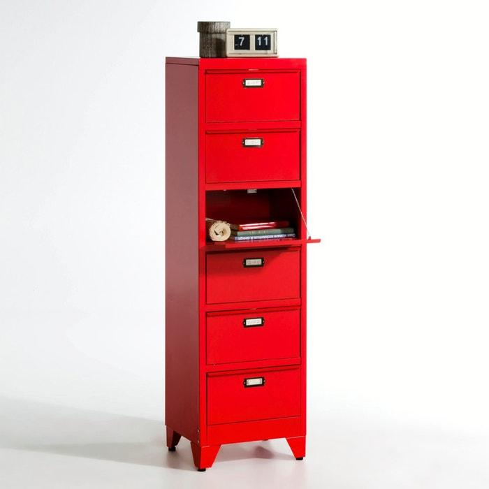 metall kommode mit klappf chern hiba la redoute. Black Bedroom Furniture Sets. Home Design Ideas