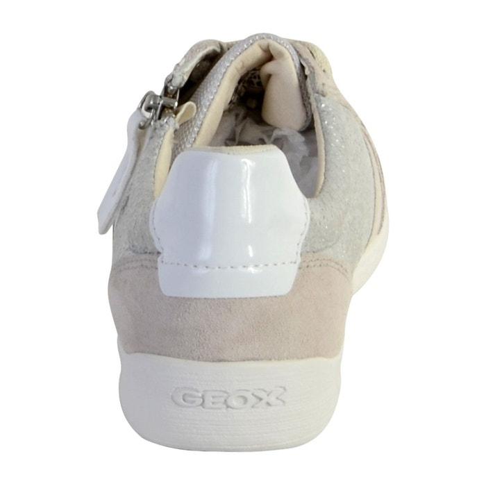 Basket d myria b metal.goat+suede silveroff white Geox