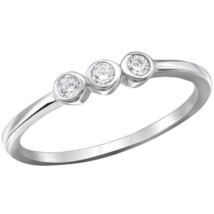 Bague anneau or blanc