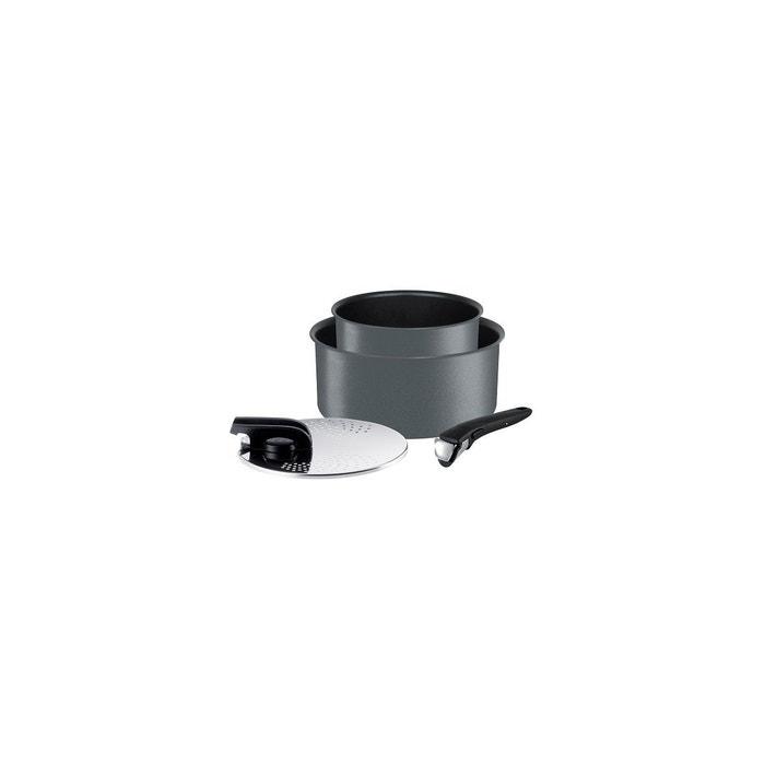batterie de cuisine tefal casseroles ingenio performance 4p gris couleur unique tefal la redoute. Black Bedroom Furniture Sets. Home Design Ideas