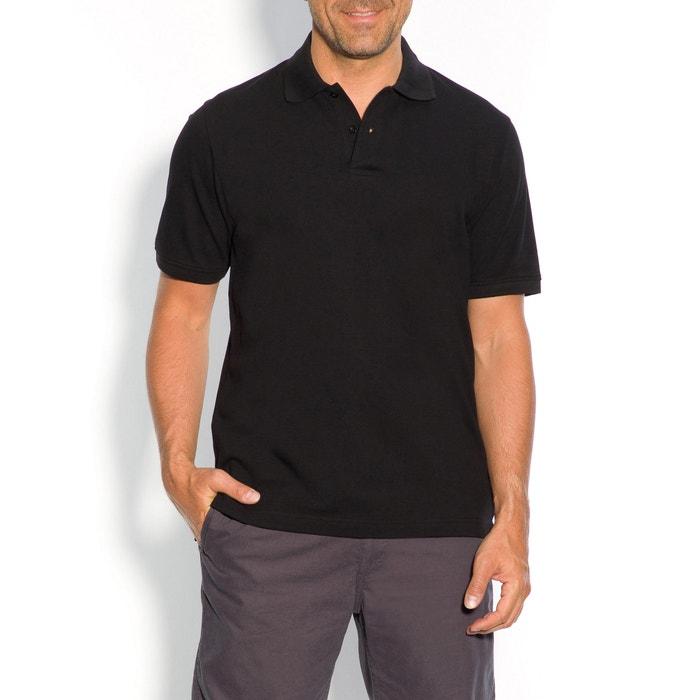 Image Plain Short-Sleeved Piqué Knit Polo Shirt CASTALUNA FOR MEN