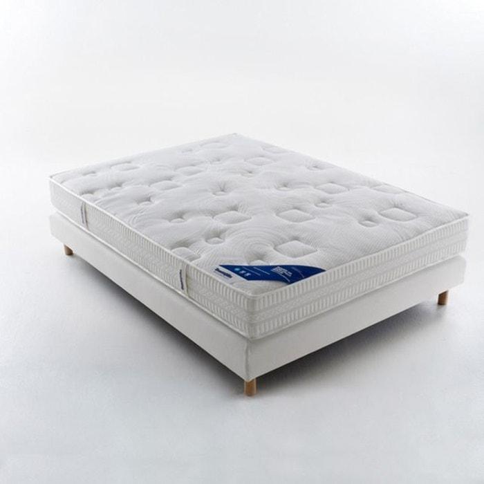 matelas mousse hr grand confort ferme 7 zones de c blanc dunlopillo la redoute. Black Bedroom Furniture Sets. Home Design Ideas