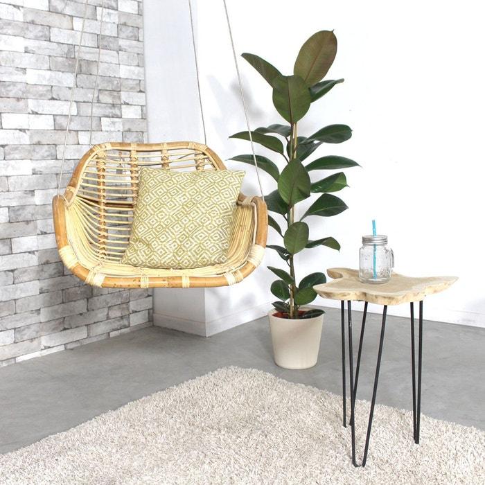 fauteuil rotin suspendu avec c ble vdl bois made in. Black Bedroom Furniture Sets. Home Design Ideas