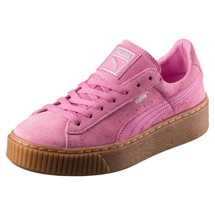 basket suede platform popur fille prism pink prism pink. Black Bedroom Furniture Sets. Home Design Ideas