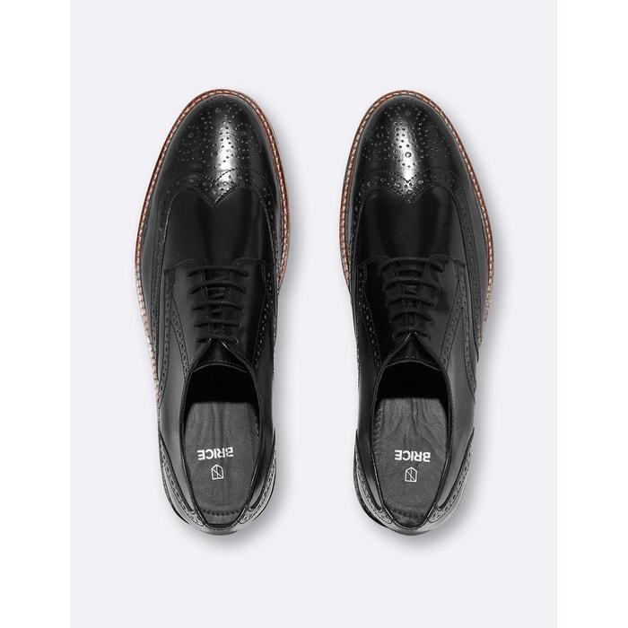 Chaussures en cuir vernis fleuries noir Brice