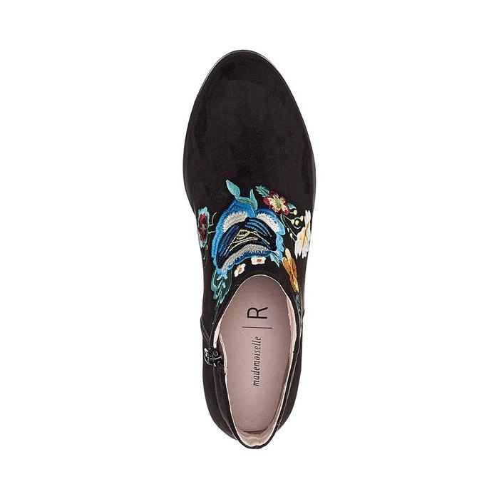 Boots brodées noir Mademoiselle R