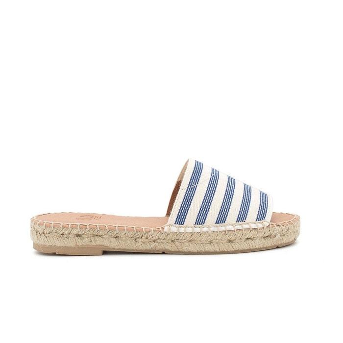 Sandale rayée noa bleu Polka Shoes Meilleur Magasin Pour Obtenir En Ligne Pas Cher xWwrXBC