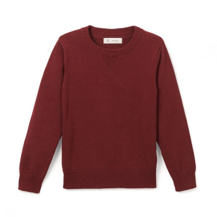 Jersey de cuello redondo 3-12 años  La Redoute Collections image 0
