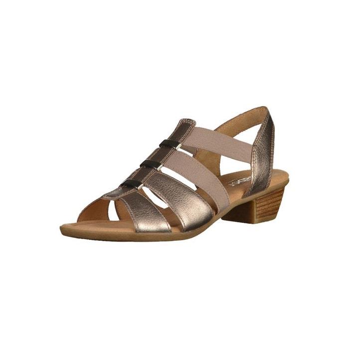 Sandales à talon bronze Gabor Acheter Pas Cher 2018 Unisexe 0OW627xh2E