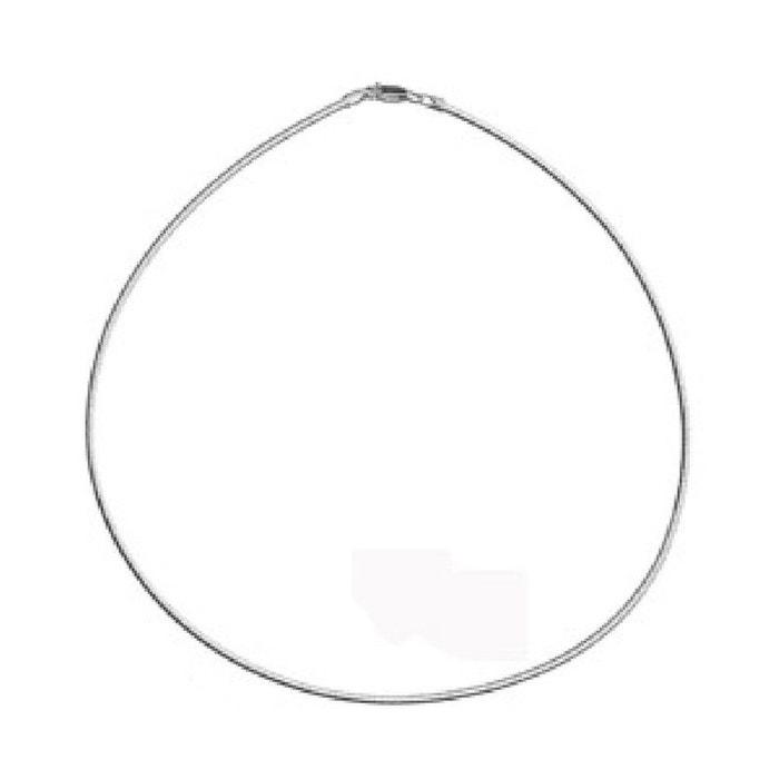 Collier femme 42 cm maille oméga ronde diamantée 1,9 mm argent 925 couleur unique So Chic Bijoux | La Redoute