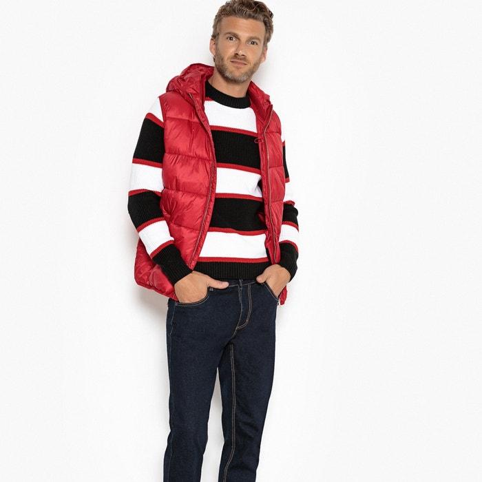 Blusão sem mangas vermelho La Redoute Collections  a70509d3d88