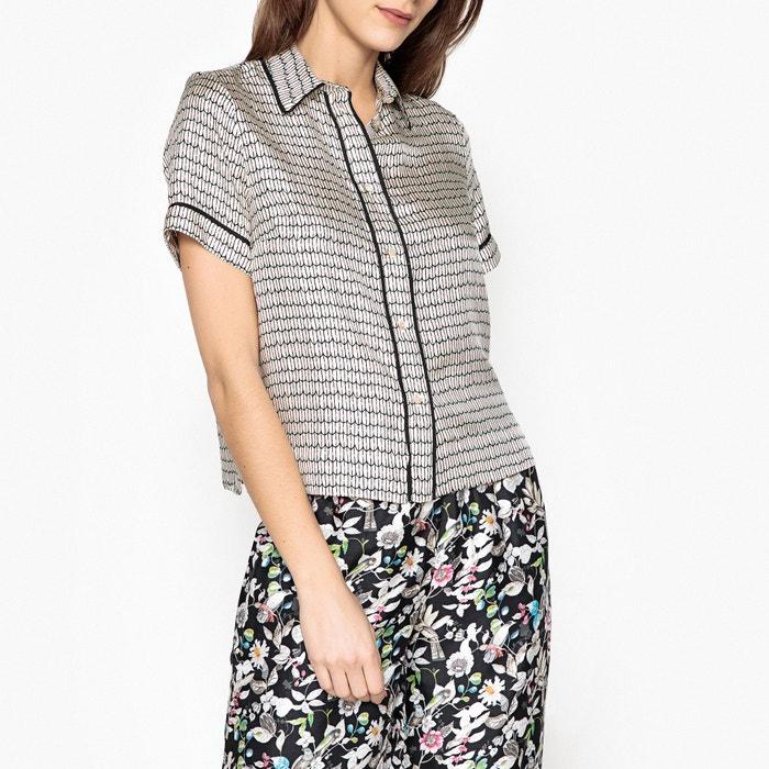 Curry Short-Sleeved Printed Silk Shirt  MOMONI image 0