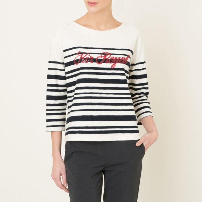 0952bb1989 T-shirt thill kir ecru/marine Leon And Harper   La Redoute