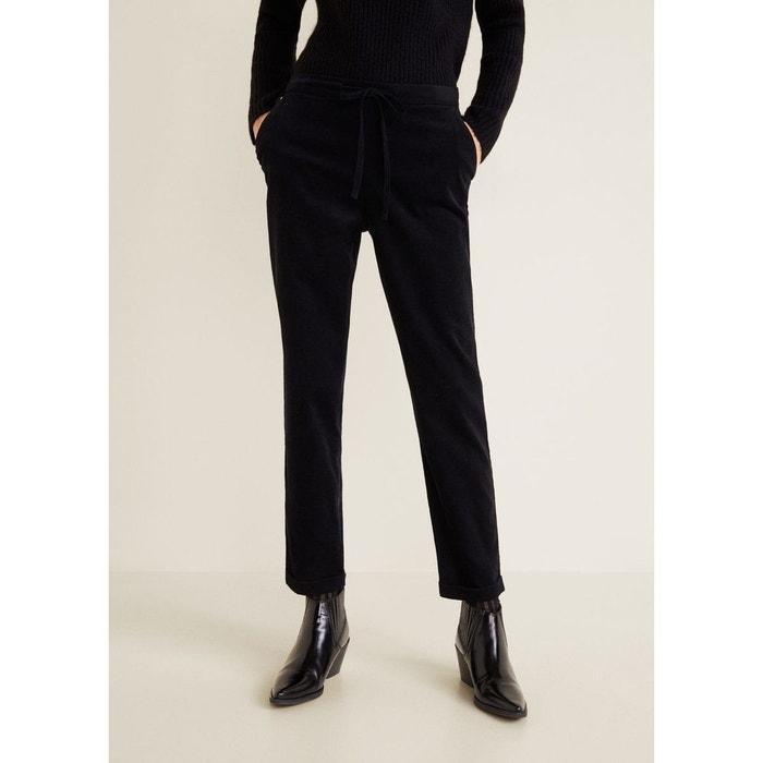 Pantalon coton velours côtelé noir Mango   La Redoute 3e44b900d71c