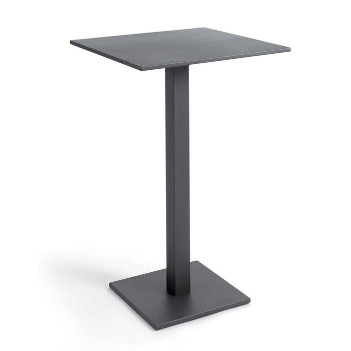 Table haute pliante carrée 70 cm alu otrante Gecko Jardin | La Redoute