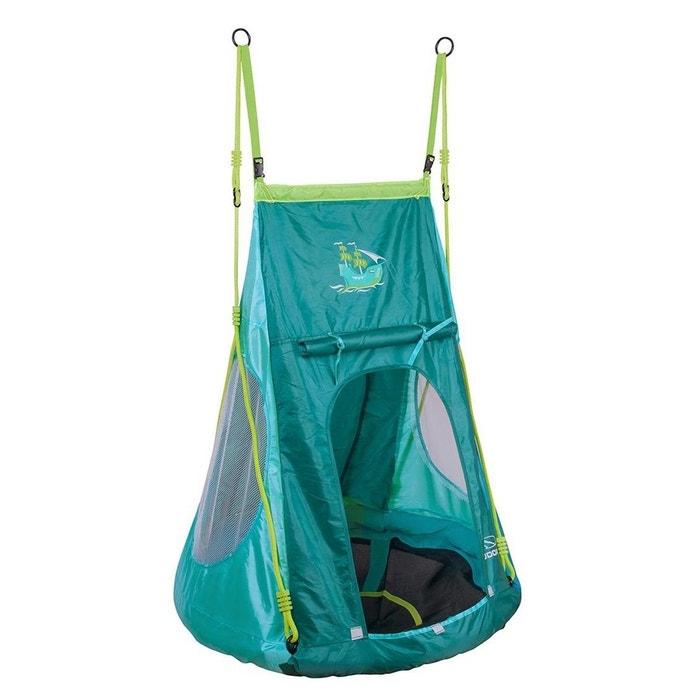 hudora la balan oire nid avec housse tente pirate 90 cm vert turquoise hudora la redoute. Black Bedroom Furniture Sets. Home Design Ideas