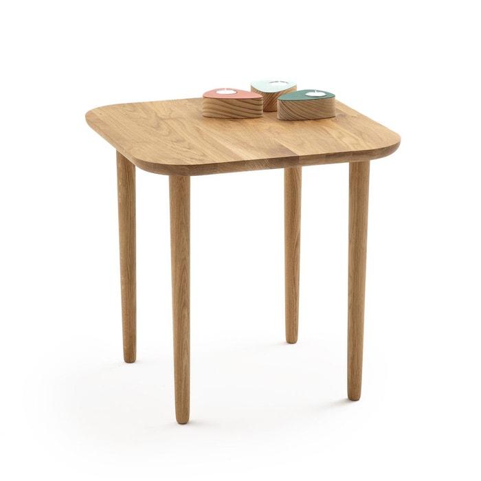 table basse haute carr e ch ne crueso ch ne la redoute interieurs la redoute. Black Bedroom Furniture Sets. Home Design Ideas