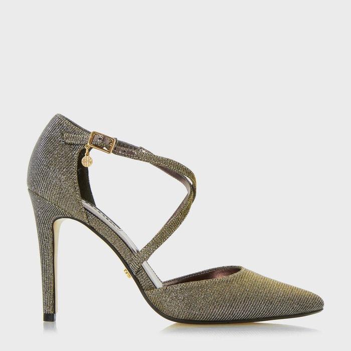 Cross strap two part court shoe - connie  doré fabric Dune London  La Redoute