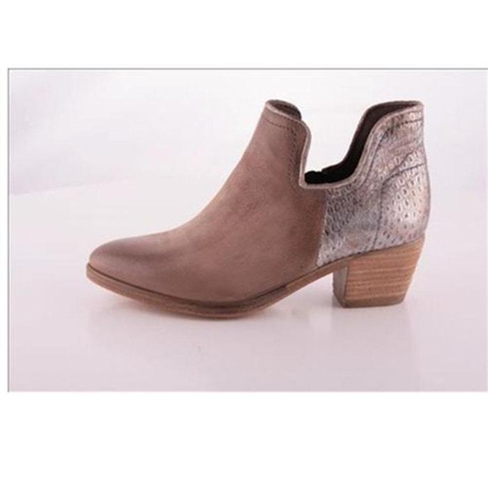Bottines / boots cuir beige Mjus Nouvelle Arrivee lc6cSaYs
