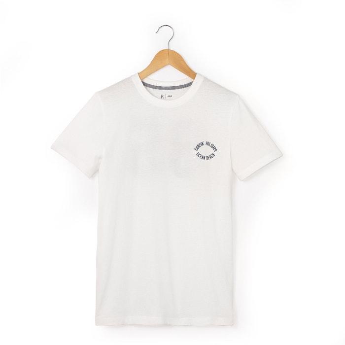Image T-shirt imprimé au dos manches courtes 10-16 ans La Redoute Collections
