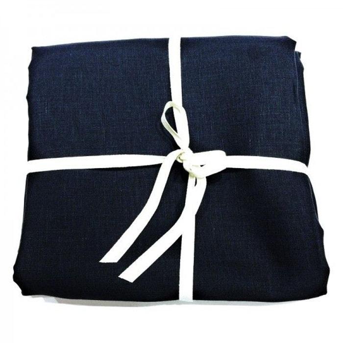 coupon de tissu de lin 3 m tres col la marine bleu la. Black Bedroom Furniture Sets. Home Design Ideas