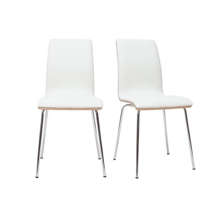 Chaises bois avec pieds métal (lot de 2) DELICACY