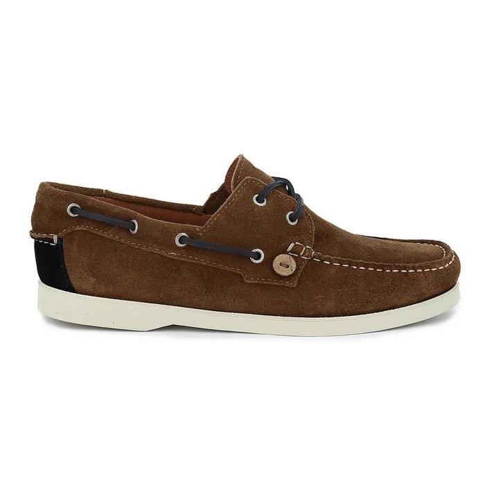 Chaussure bateau larch suede marron Faguo