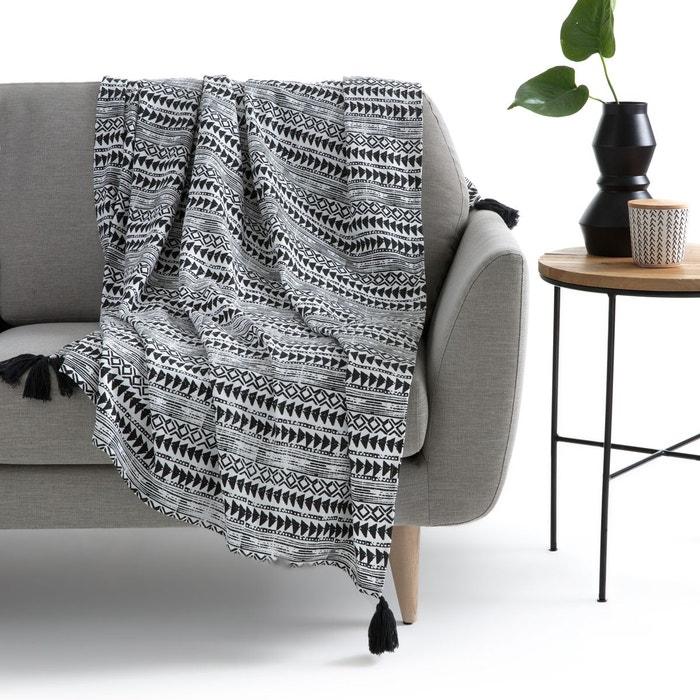 plaid tiebele noir blanc la redoute interieurs la redoute. Black Bedroom Furniture Sets. Home Design Ideas