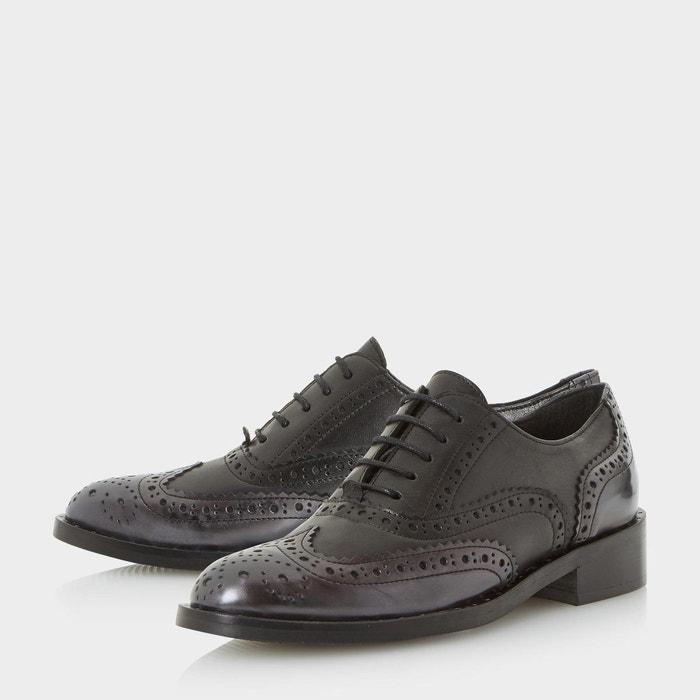 Chaussures richelieu à lacets ornées de clous - fariston noir cuir Dune Black