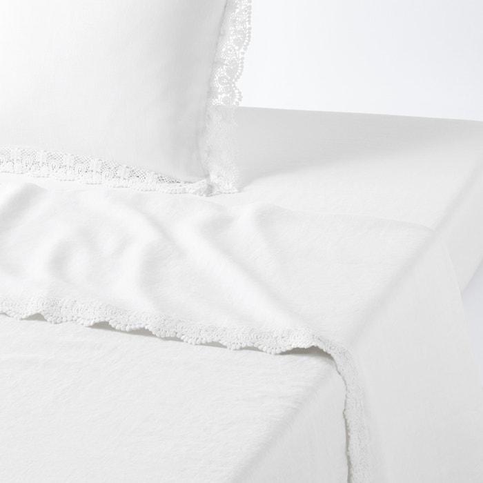 drap plat billie blanket x la redoute interieurs blanc. Black Bedroom Furniture Sets. Home Design Ideas