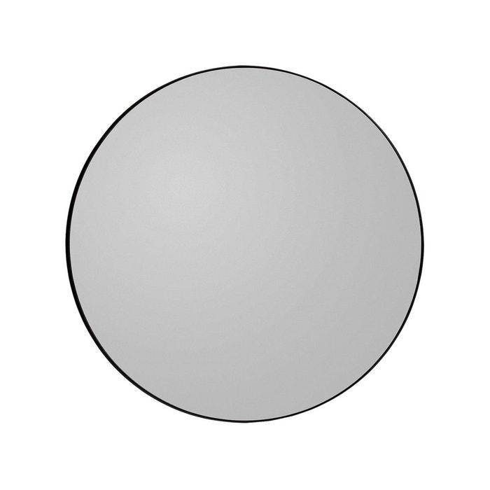 Miroir mural circum teint noir medium rond diam 90 cm for Gros miroir rond