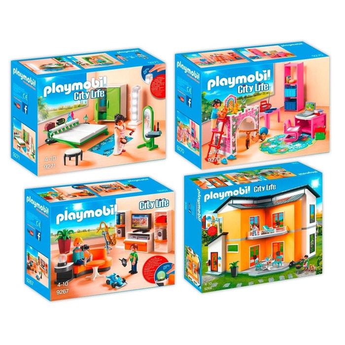 Playmobil 9266 67 70 71 Maison Moderne 4 Boites 9266 9267 9270