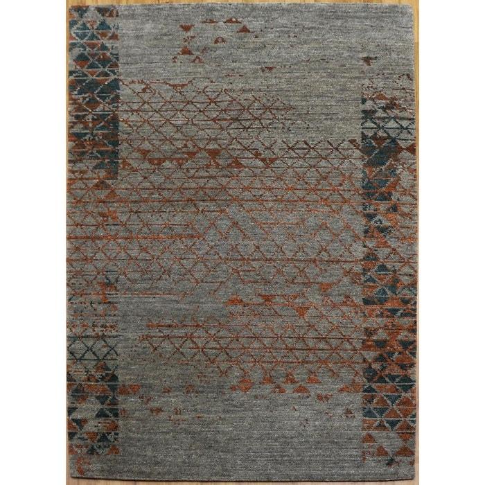 tapis salon haku 60 org nepal laine de tibet tapis chambre gris theko la redoute. Black Bedroom Furniture Sets. Home Design Ideas