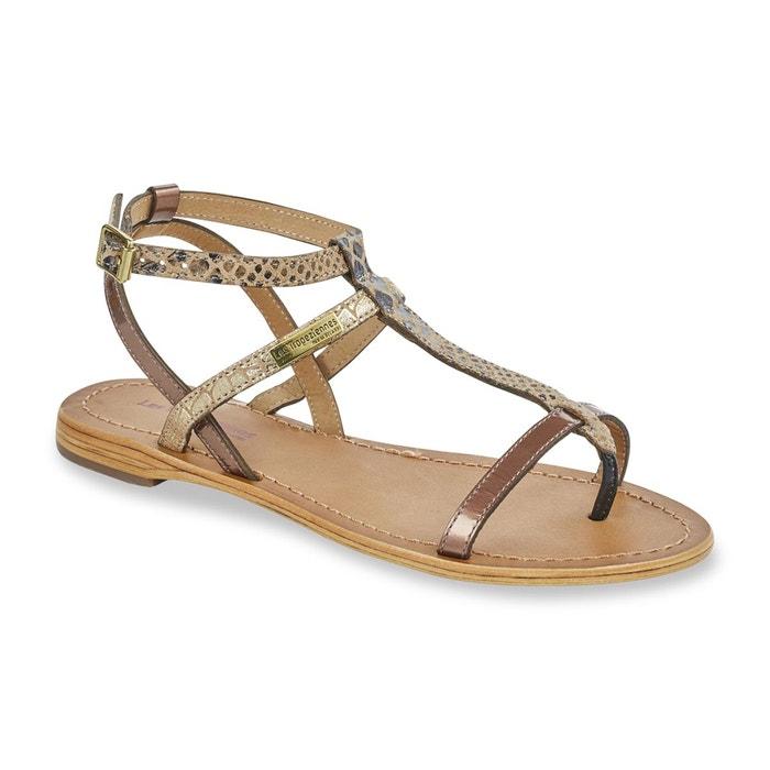 Sandales cuir entre-doigts baie bronze Les Tropeziennes Par M Belarbi
