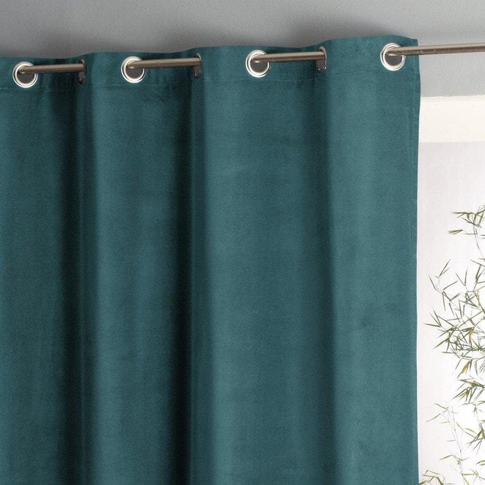 Wouri Cotton Velour Curtain with Eyelet Header
