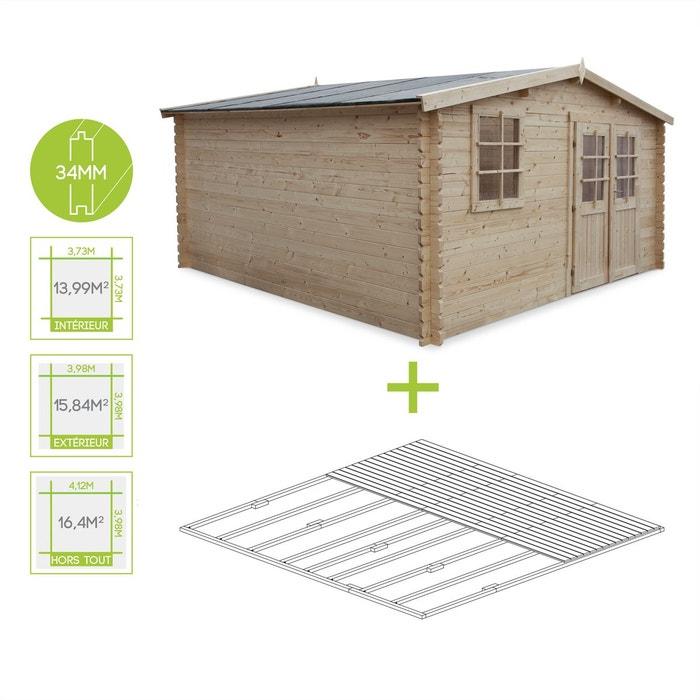 abri de jardin boscodon en bois fsc de 16 4m plancher. Black Bedroom Furniture Sets. Home Design Ideas