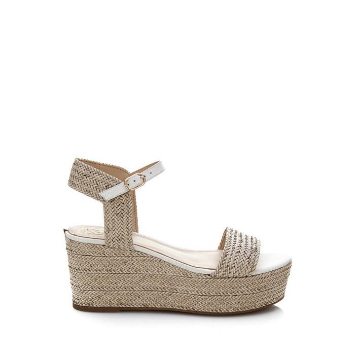Chaussures à semelle compensée lissa tressées gris Guess