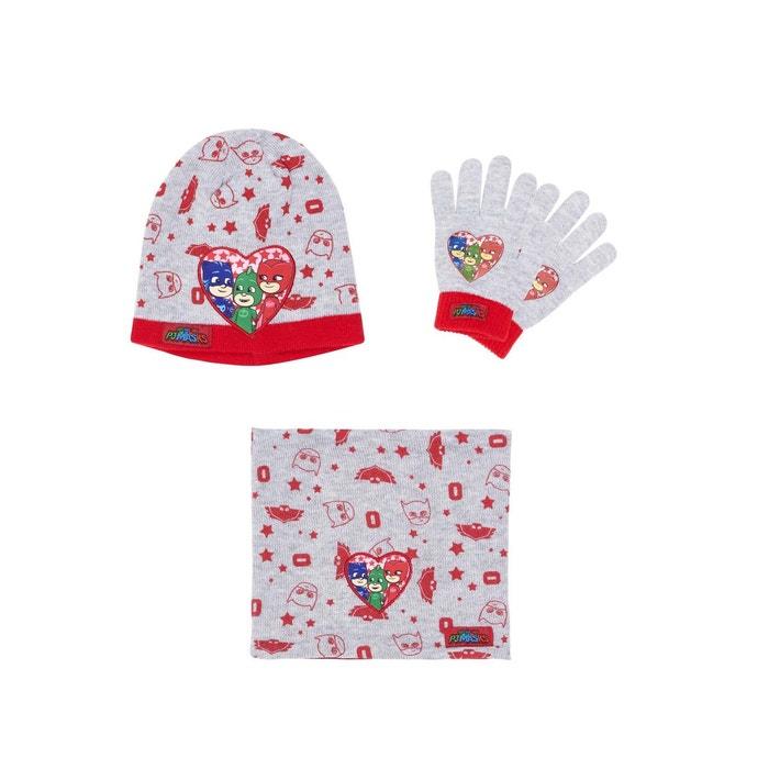 Ensemble 3 pièces   un col tube, bonnet et gants gris Les Pyjamasques   La  Redoute 3f6ad6e2e9d