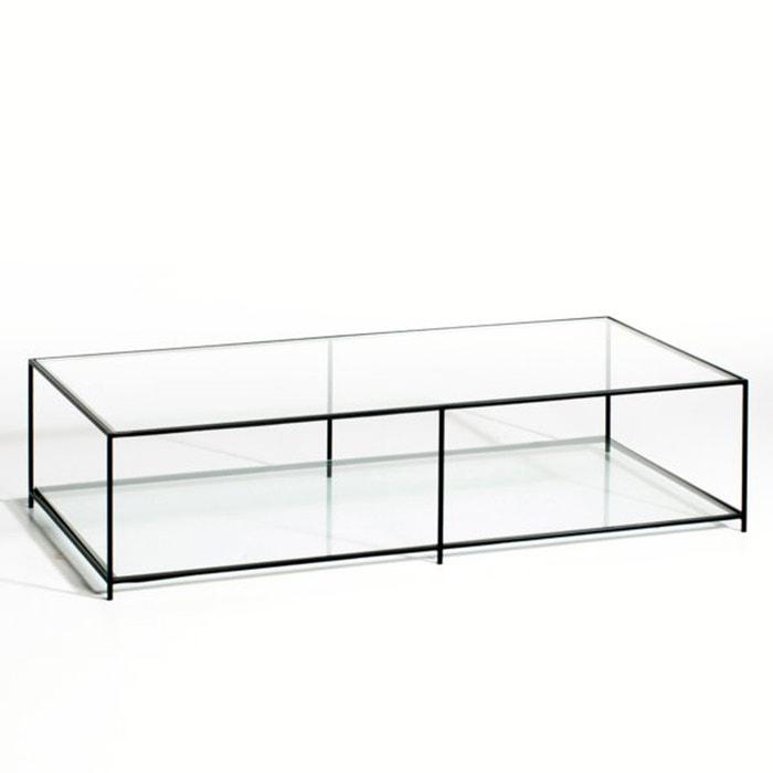 Sybil rectangular tempered glass coffee table am pm la - Table basse la redoute ampm ...